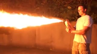 Hornets Killed With Homemade Flamethrower