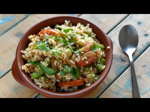 Lunch Box Recipe - Capsicum Rice