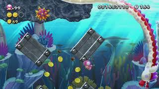 Dragoneel Depths ~ Sparkling Waters-5 - Toadette - New Super Mario Bros. U Deluxe: Super Luigi U