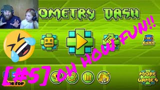 FATHER AND DAUGHTER RAGE TIME!![GEOMETRY DASH] [#5]