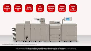 Canon imageRUNNER ADVANCE Solutions for Accessibility