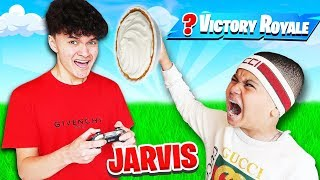 MY LITTLE BROTHER PULLS EPIC REVENGE PRANK ON FAZE JARVIS! HE MADE HIM LOSE THIS FORTNITE GAME! RAGE