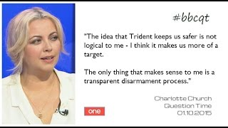 Charlotte Church does Question Time (Cardiff 1 October 2015)