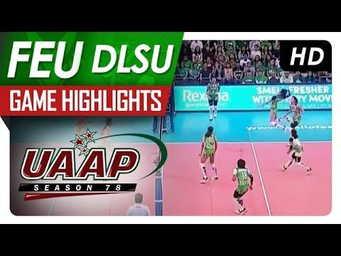 UAAP 78 WV: FEU vs DLSU Game Highlights