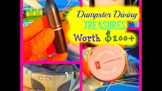 Dumpster Diving - $200+ Worth Of Treasures Found  In The Trash