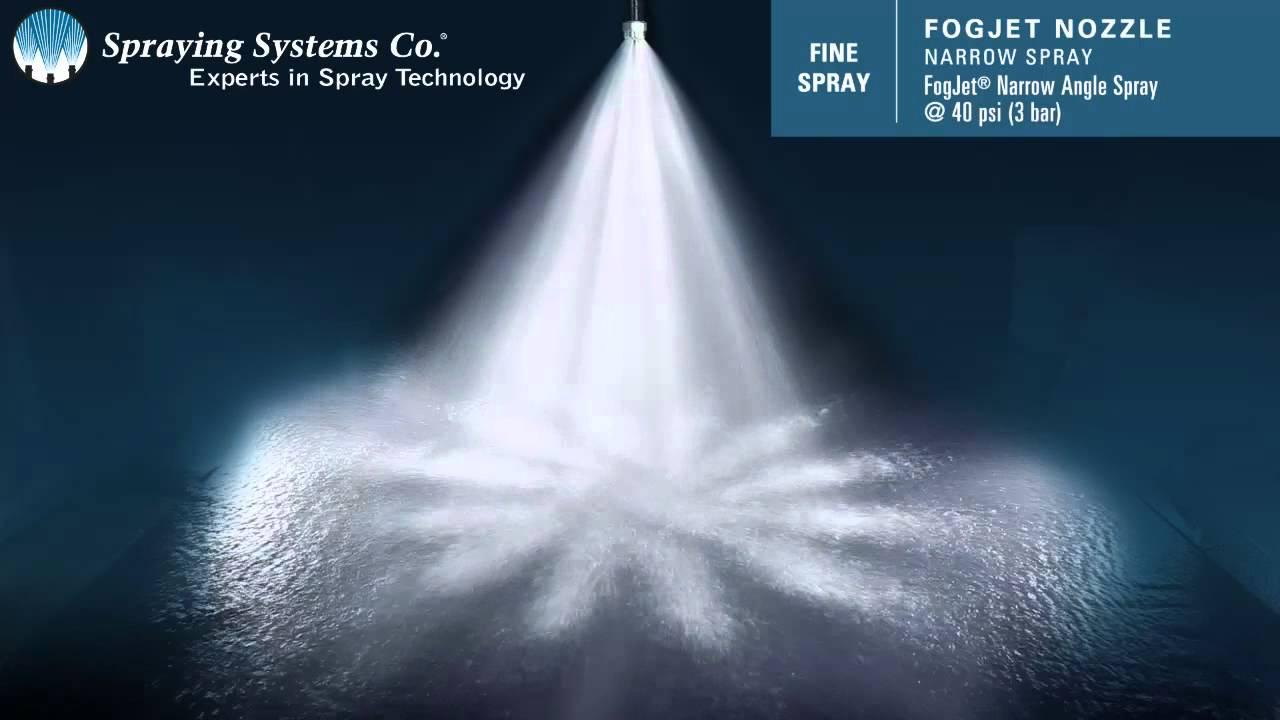 Fogjet 174 Ff Narrow Angle Spray Pattern Demonstration By