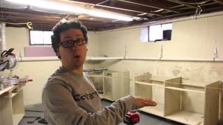 Basement Shop Part 2 - Cabinet Instillation