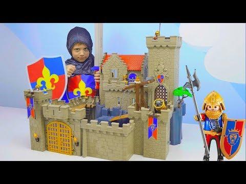 Даник и ЗАМОК РЫЦАРЕЙ ЛЬВА от Playmobil - Видео для детей с игрушками для мальчиков. Kids Children