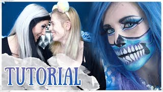 Halbes Skelett mit Annika 💀 || MAKE-UP TUTORIAL || DE