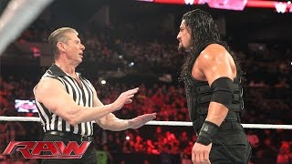Reigns vs. Sheamus - Mr. McMahon Guest Ref. for WWE World Heavyweight Title: Raw, Jan. 4, 2016