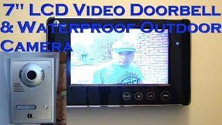 "1byone 7"" Color LCD Video Doorbell Intercom Review & Install - VP-0033"