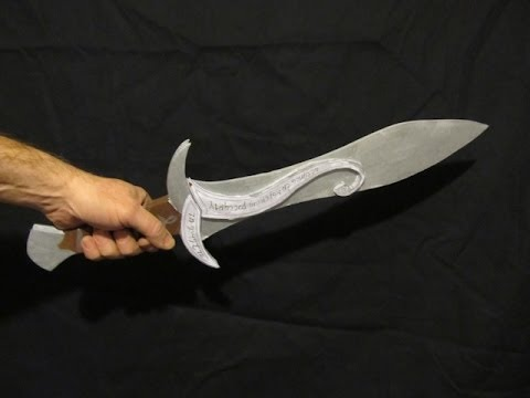 Make Sting from The Hobbit out of foamboard