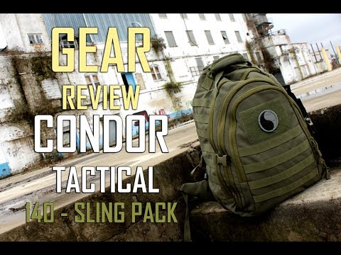 Gear Review - Condor Tactical Sling Pack - Mission Bag - Military Survival Pack