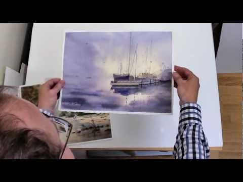 How to flatten watercolor paintings