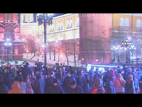 Crowds rally to protest Navalny verdict