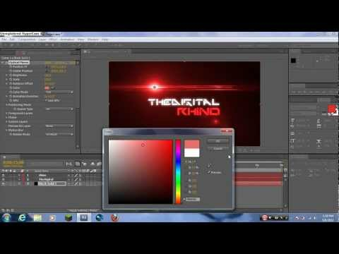 How to Make a Professional Intro in After Effects CS4,CS5,CS5.5, CS6
