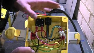 A look inside a 240v to 110v stepdown isolating transformer.