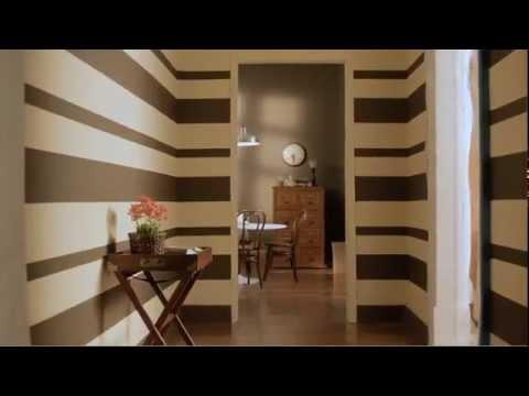C mo pintar una pared con rayas horizontales youtube - Como pintar una pared ya pintada ...