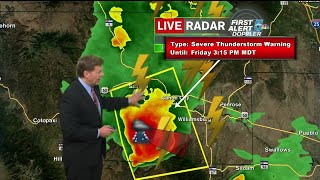 Severe Thunderstorm Warning for El Paso County