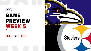Baltimore Ravens vs.Pittsburgh Steelers Week 5 NFL Game Preview
