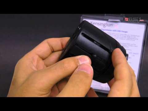Kensington� Worldwide Travel Plug Adapter with USB Charger - Black