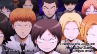 【Break The Rules - Lyrics ( Assassination Classroom AMV )】