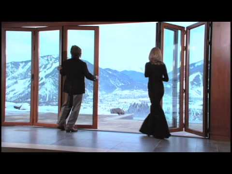 Nanawall accordion glass doors in snow country youtube for Nana sliding glass doors