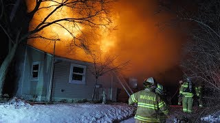 EARLY VIDEO: Working House Fire with high winds 03/02/18