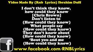 Chris Brown   Don't Think They Know ft  Aaliyah Lyrics On Screen)
