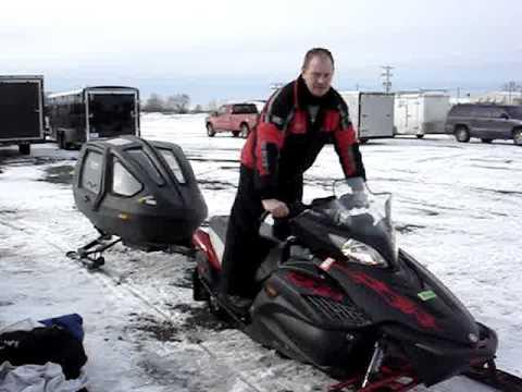 Snowcoach snowmobile trailer for kids