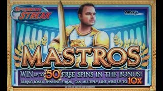 GREAT WIN & TOO MANY FREE GAMES on MASTROS SLOT MACHINE POKIE BONUS
