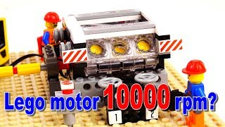 Lego motor running SMOKING 10000 rpm?