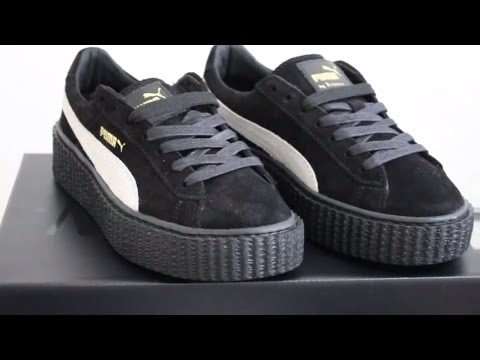 Puma creeper suede Black by Rihanna Fenty Unboxing and Review