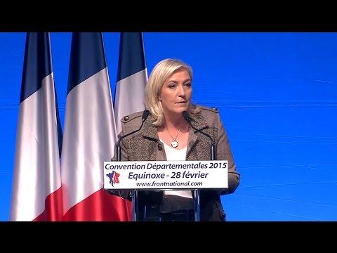 Convention Départementales 2015 : Discours de Marine Le Pen