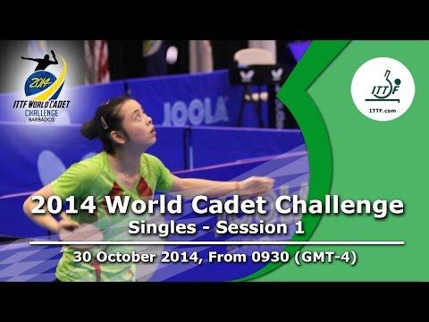 2014 ITTF World Cadet Challenge – Singles Groups – Session 1