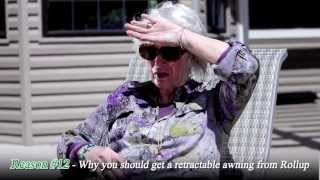 "Roll Up Awnings TV Commercial ""Hot Grandma"""
