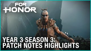 For Honor: Year 3 Season 3 – Hulda Patch Notes Highlights | Ubisoft [NA]