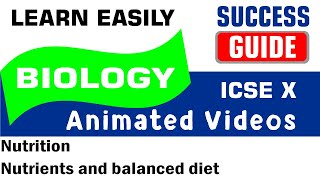 ICSE IX BIOLOGY Nutrition-1- Nutrients and balanced diet by Success Guide