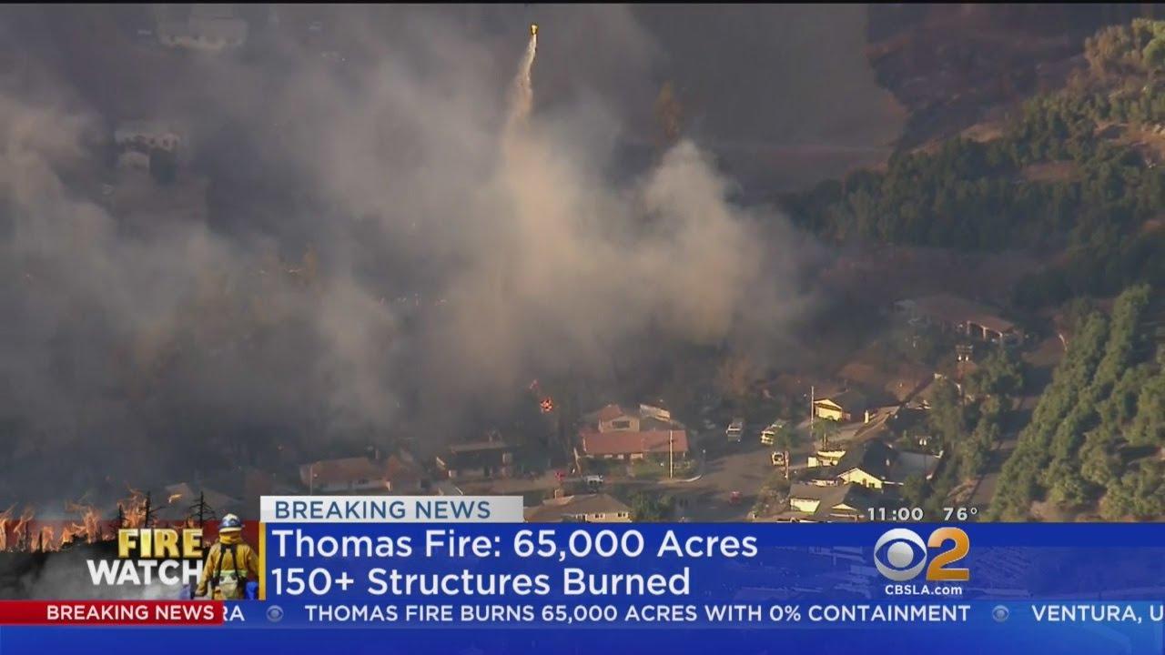Thomas Fire Burns 65K Acres