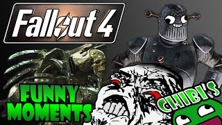 Fallout 4 Funny Moments Ep.9 Robot DLC, Funny Death Rage, Explosions Everywhere!