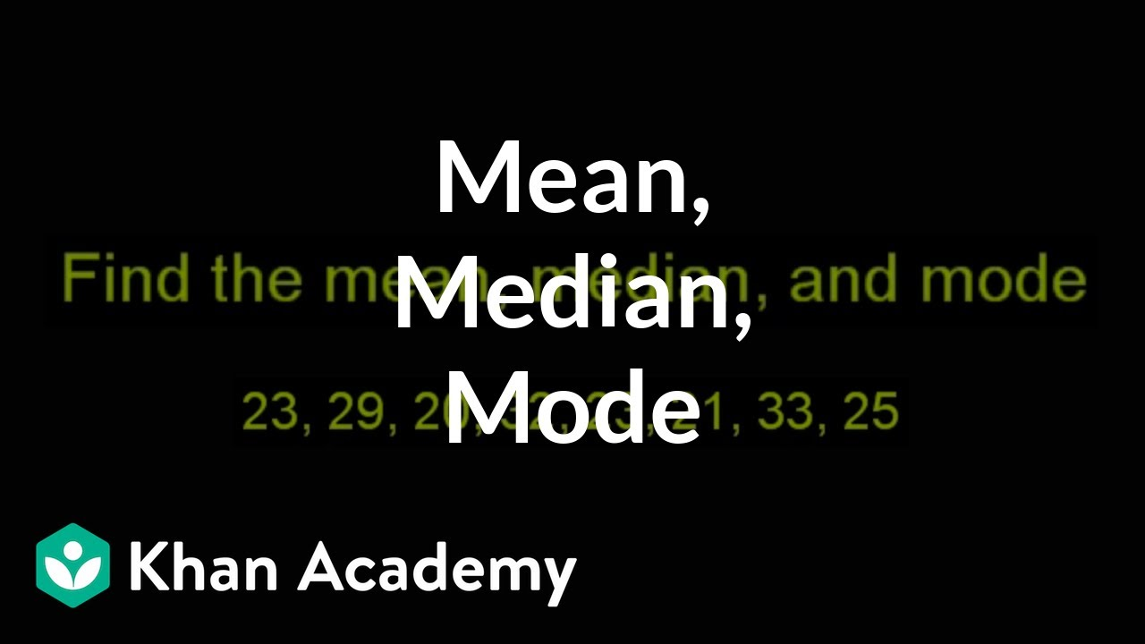 how to find out mean median and mode