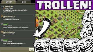 Clash of Clans || TROLLEN IM GLOBAL! | Mein Anführer ist ein Affe :D