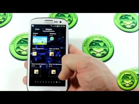 Samsung Galaxy S3/SIII Stock Apps & Widgets