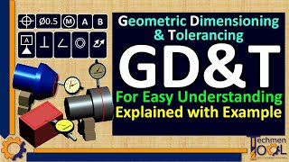 Techmentool: GD&T symbols/ Geometric Dimensioning and Tolerancing (Beginners- with example)