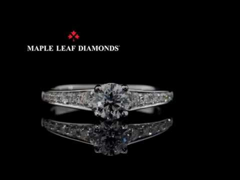 MAPLE LEAF CANADIAN  DIAMOND RING. R3367WG