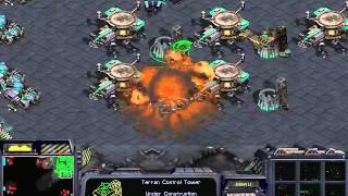 스타크래프트 빨무 1vs7 컴퓨터 상대하기 (테란편) (starcraft fastest 1vs7 computer Terran Game Play)