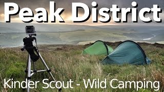 Peak District - Wild Camping - Crookstone Knoll on Kinder Scout