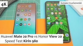Huawei Mate 20 Pro vs Honor View 20 ❗❗❗ | Speed Test |  Kirin 980