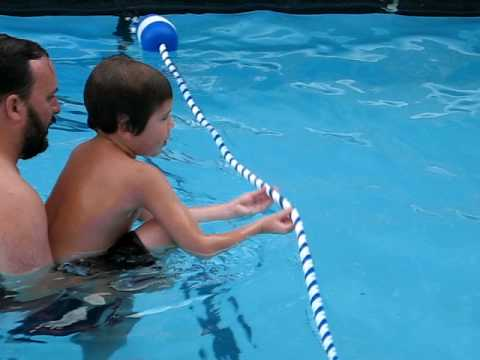 Jonah the fish-boy, swimming in Cape Cod hotel pool