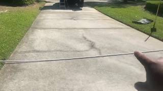 How I prep to run pvc pipe under a driveway